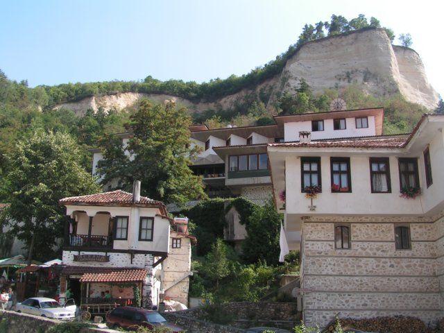 Zdjęcia: Melnik, Góry Pirin, Oryginalna zabudowa, BUłGARIA