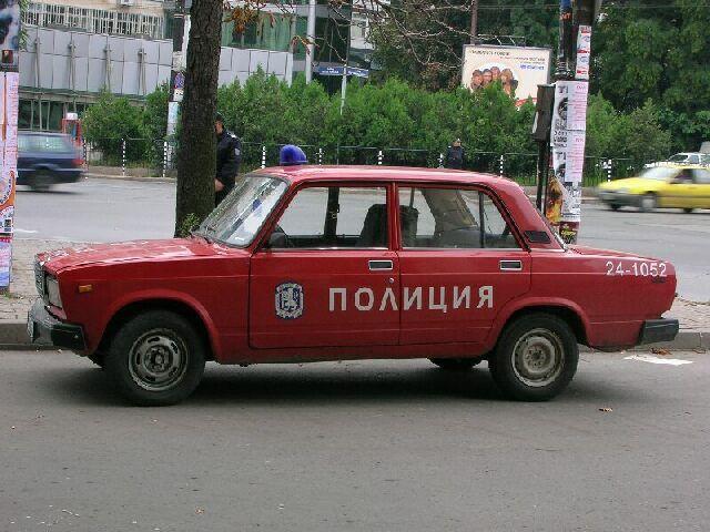 Zdjęcia: Sofia, Policyjny ścigacz., BUłGARIA
