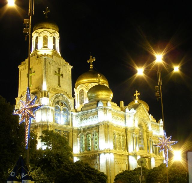 Zdjęcia: Bułgaria, Varna, Katedra nocą, BUłGARIA
