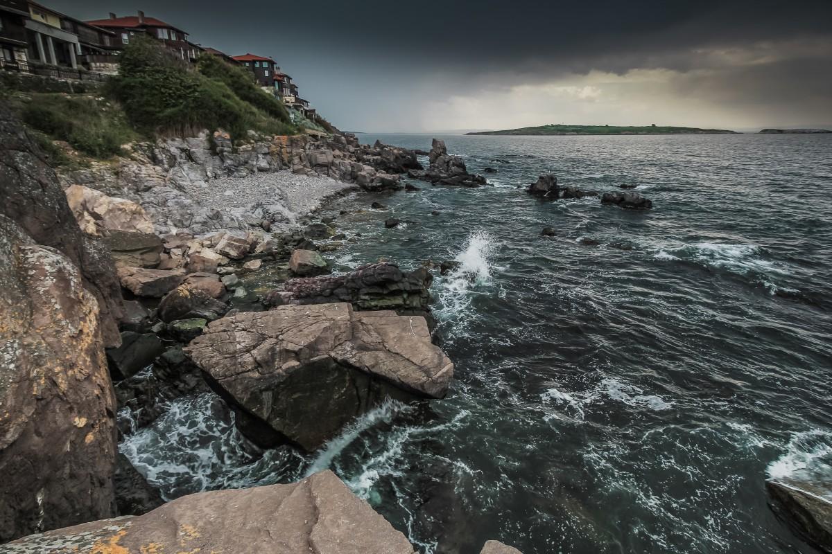 Zdjęcia: Sozopol, Morze Czarne, Sozopol, przed burzą, BUłGARIA
