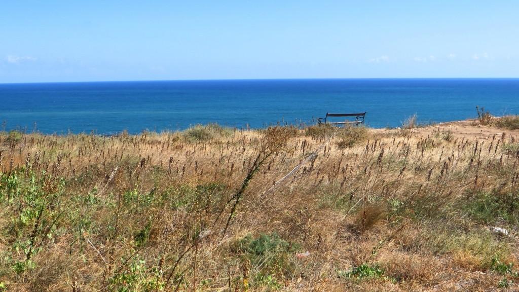 Zdjęcia: półwysep Kaliakra, okolice Warny, ławeczka, BUłGARIA