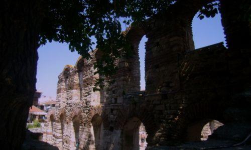 Zdjęcie BUłGARIA / obwód Burgas / Nessebar / ruiny cerkwi z IIIX w