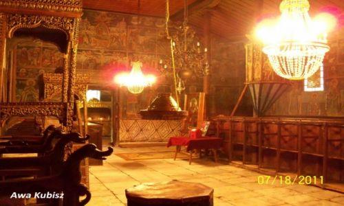 Zdjecie BUłGARIA / Południe / Melnik / Wnętrze kościoła w monastyrze Rozen