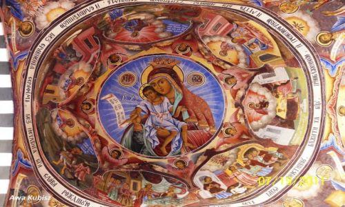 Zdjęcie BUłGARIA / Południe / Riła / Monastyr Rylski - malowidło na suficie
