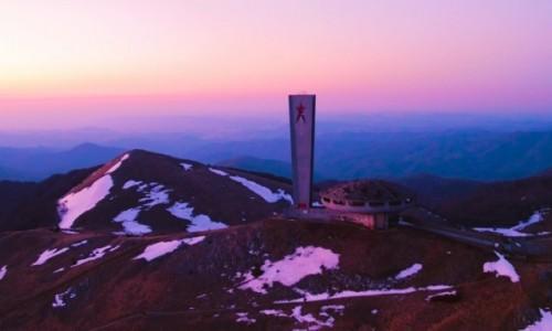 Zdjecie BUłGARIA / Europa / Kazałnyk, szczyt Buzludzha / Zachód słońca nad szczytem Buzludzha!
