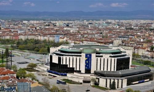 Zdjecie BUłGARIA / .. / Sofia / Panorama Sofii z Narodowym Pałacem Kultury
