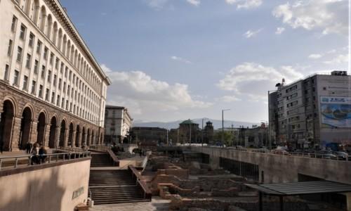 Zdjecie BUłGARIA / ... / Centrum Sofii, gdzie wszędzie blisko. / Serdika - ruiny rzymskiego miasta