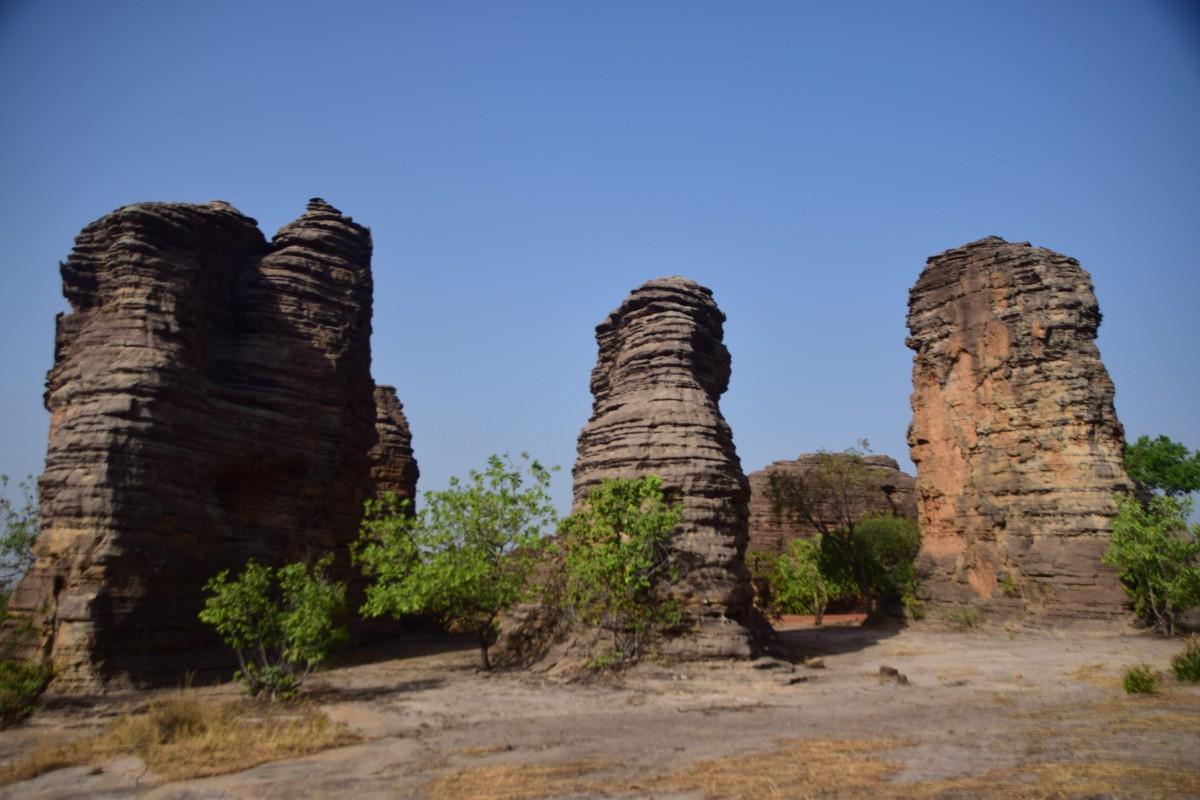 Zdjęcia: Banfora, Południowy zachód, Skały Fabedougou, BURKINA FASO