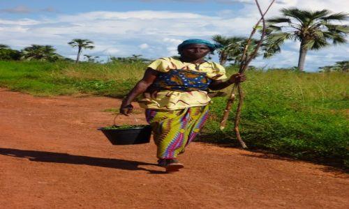 BURKINA FASO / - / okolice Banfory / Kobieta pracująca.