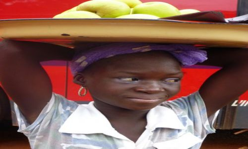 Zdjęcie BURKINA FASO / - / okolice Banfory / Dziewczyna z owocami.