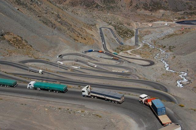 Zdjęcia: Granica Argentyna-Chile, Przejazd przez Andy, CHILE