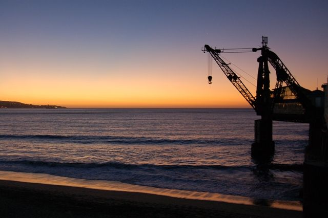Zdjęcia: Vina del Mar, Wybrzeże Pacyfiku, Zachod slonca nad Pacyfikiem, CHILE