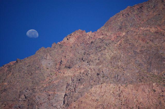 Zdjęcia: Droga z Mendozy do Vina del Mar, Andy, Księżyc w Andach, CHILE