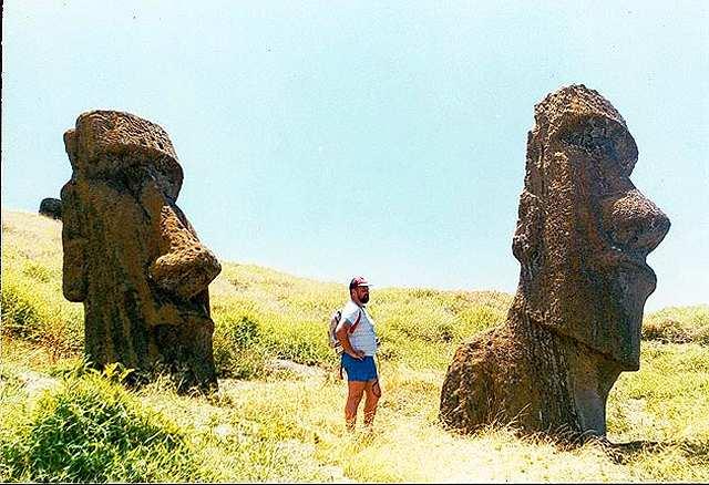 Zdjęcia: stoki Rano Raraku, Rapa Nui, porzucone moaie, CHILE
