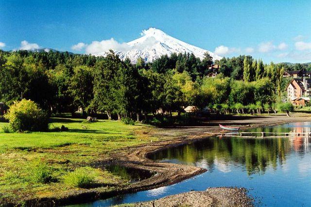 Zdjęcia: Pucon, widok na aktywny wulkan Villarrica, CHILE