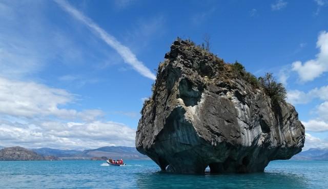 Zdjęcia: Jezioro General Carrera- Las Cuevas de Mármol, Patagonia, Trzeba dopłynąć łódką, CHILE