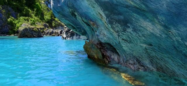 Zdjęcia: Marmurowe Jaskinie, Provincia de General Carrera, Gra w kolory, CHILE