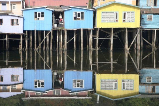 Zdjęcia: Castro, Wyspa Chiloe, Odbicie, CHILE