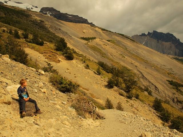 Zdjęcia: Torres del Paine, Patagonia, Najmłodszy na szlaku?, CHILE