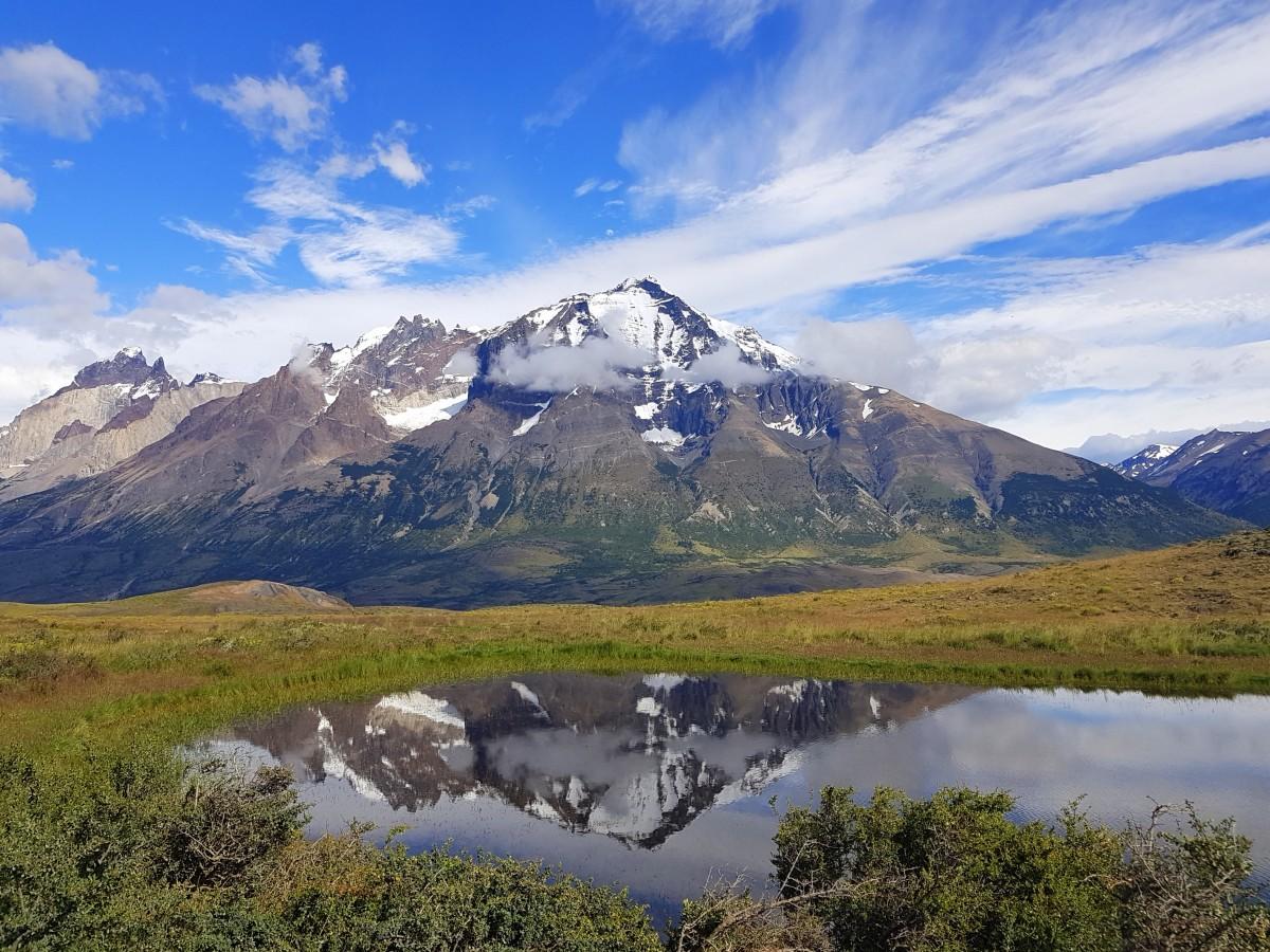 Zdjęcia: Park Narodowy Torres del Paine, Patagonia, Lusterko, CHILE