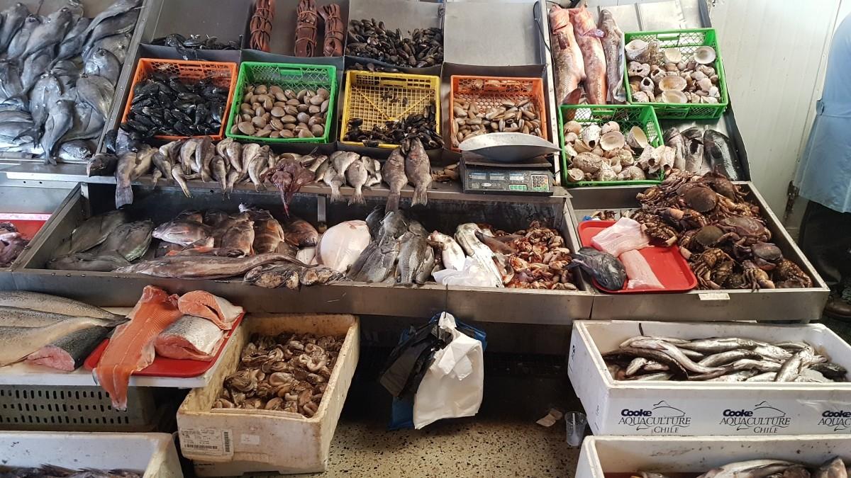 Zdjęcia: Valparaiso, Chile, Targ rybny w Valparaiso, CHILE