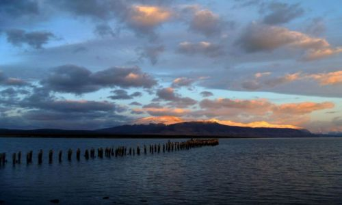 Zdjecie CHILE / Patagonia / Puerto Natales / Wsch�d s�o�ca w