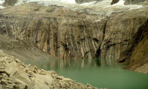 CHILE / Patagonia / Torres del Paine / Jezioro lodowcowe pod Torres del Paine