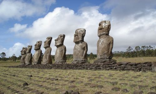 Zdjecie CHILE / Wyspa Wielkanocna / Park Narodowy Rapa Nui / Siete Moai