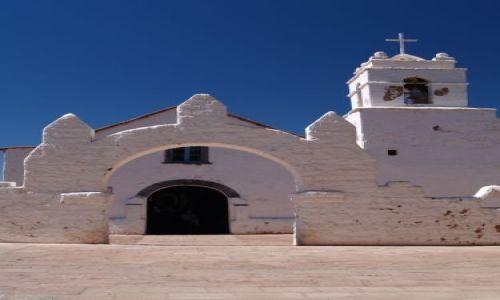 CHILE / Pustynia Atacama / Atacama  / Kościół Sw Piotra w San Pedro de Atacama
