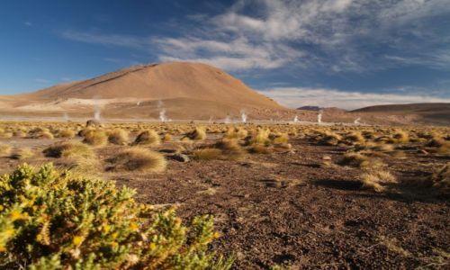 Zdjecie CHILE / brak / Pustynia Atacama, okolice San Pedro de Atacama  / Gejzery El Tatio po wschodzie słońca