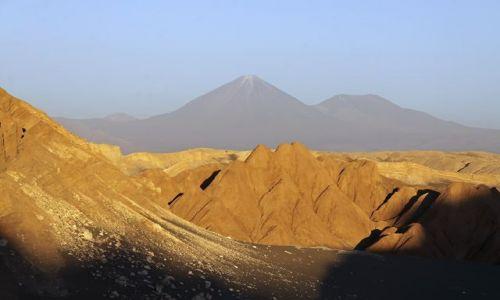 Zdjecie CHILE / Antofagasta  / San Pedro de Atacama - Dolina Księżycowa / Zachód słońca w dolinie księżycowej .