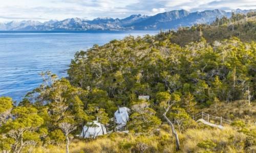 CHILE / Punta Arenas / Cieśnina Magellana / Obóz w cieśninie Magellana