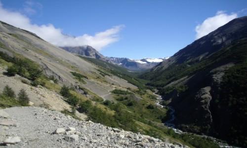 Zdjecie CHILE / park Torres dl Paine  / w stron� schroniska Chileno  / w drodze do sch