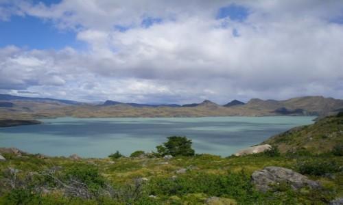 CHILE / park Torres dl Paine  / Jezioro Nordenskjold / Lago Nordenskjold