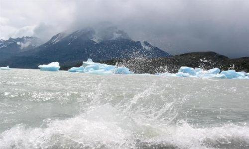 Zdjecie CHILE / Torres del Paine / Lodowiec Gray / Lodowata woda
