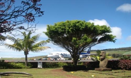 Zdjęcie CHILE / W.Wielkanocna / HANGA ROA / Lotnisko