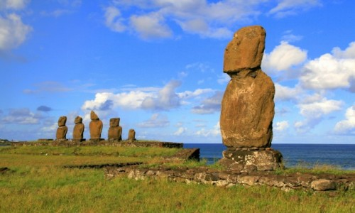 Zdjecie CHILE / Rapa Nui / Ahu Tahai / Rapa Nui, Ahu T