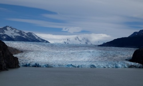 CHILE / Patagonia / Torres del Paine / Lodowiec Grey