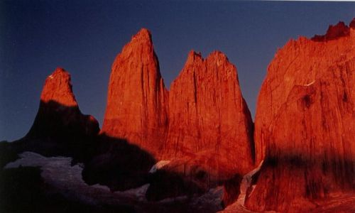 Zdjecie CHILE / brak / torres del paine / wschod na wieze Paine