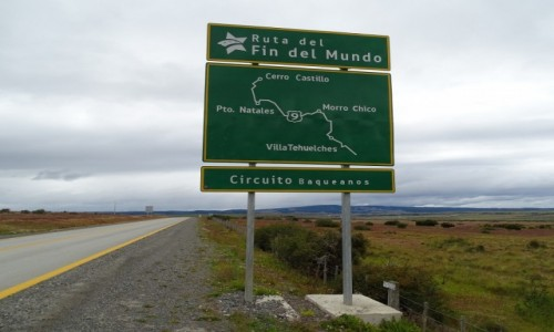 CHILE / Patagonia / w drodze z Punta Arenas do Puerto Natales / Droga Końca Świata