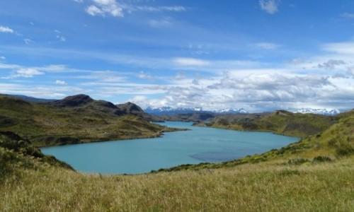 CHILE / Patagonia- region Magallanes / PN Torres del Paine / Lago Sarmiento