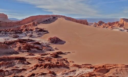Zdjecie CHILE / pomiędzy Norte Chico i Norte Grande / Pustynia Atacama; Dolina Księżycowa / Zachód słońca na pustyni