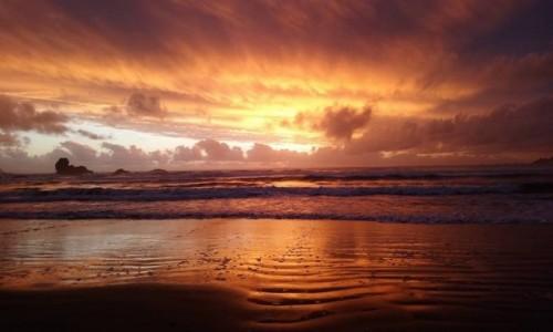 Zdjecie CHILE / Los Rios / Pilolcura / Zachód słońca nad Pacyfikiem