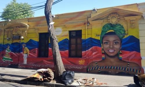 Zdjęcie CHILE / Metropolitana / Santiago de Chile-dzielnica Bellavista / Pośród ulicznego bałaganu...