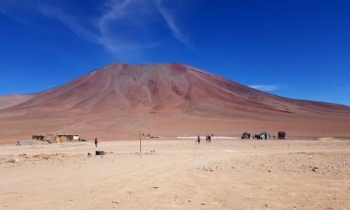 Zdjęcie CHILE / Atacama /  Hito Cajón -granica Chile-Boliwia / Na granicy