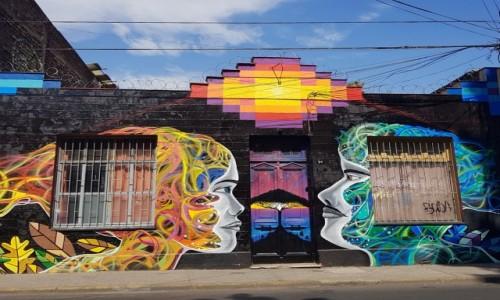 Zdjecie CHILE / Metropolitana / Santiago de Chile-dzielnica Bellavista / Adam i Ewa