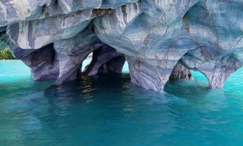 Zdjęcie CHILE / Provincia de General Carrera / Santuario de la Naturaleza Capilla de Mármol / Wspomnienia w kolorze blue