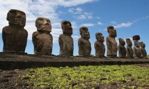 Zdjecie CHILE / Wyspa Wielkanocna / Wyspa Wielkanocna / moai
