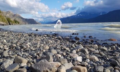 CHILE / Torres del Paine / Nad jeziorem / Lodowy obraz