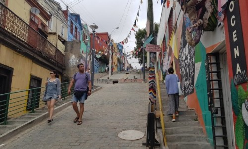 Zdjecie CHILE / Chile / Valparaiso / Valparaiso kolorowe miasto